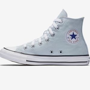 Converse Shoes   Powder Blue High Top